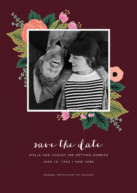 September Herbarium (Photo Save the Date) - Merlot - Rifle Paper Co. - Photo