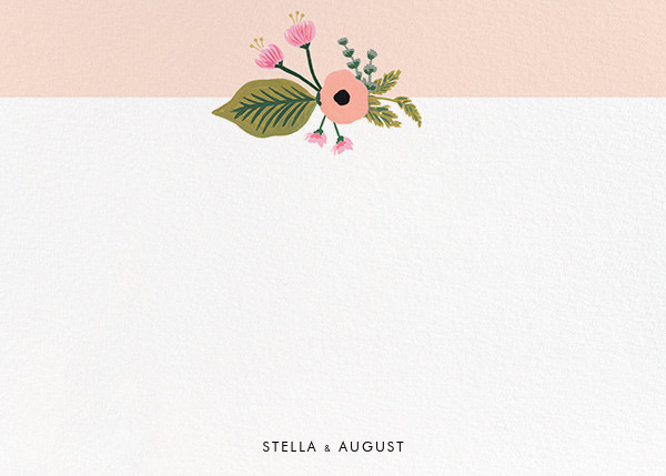 September Herbarium (Stationery) - Meringue - Rifle Paper Co. - Personalized stationery