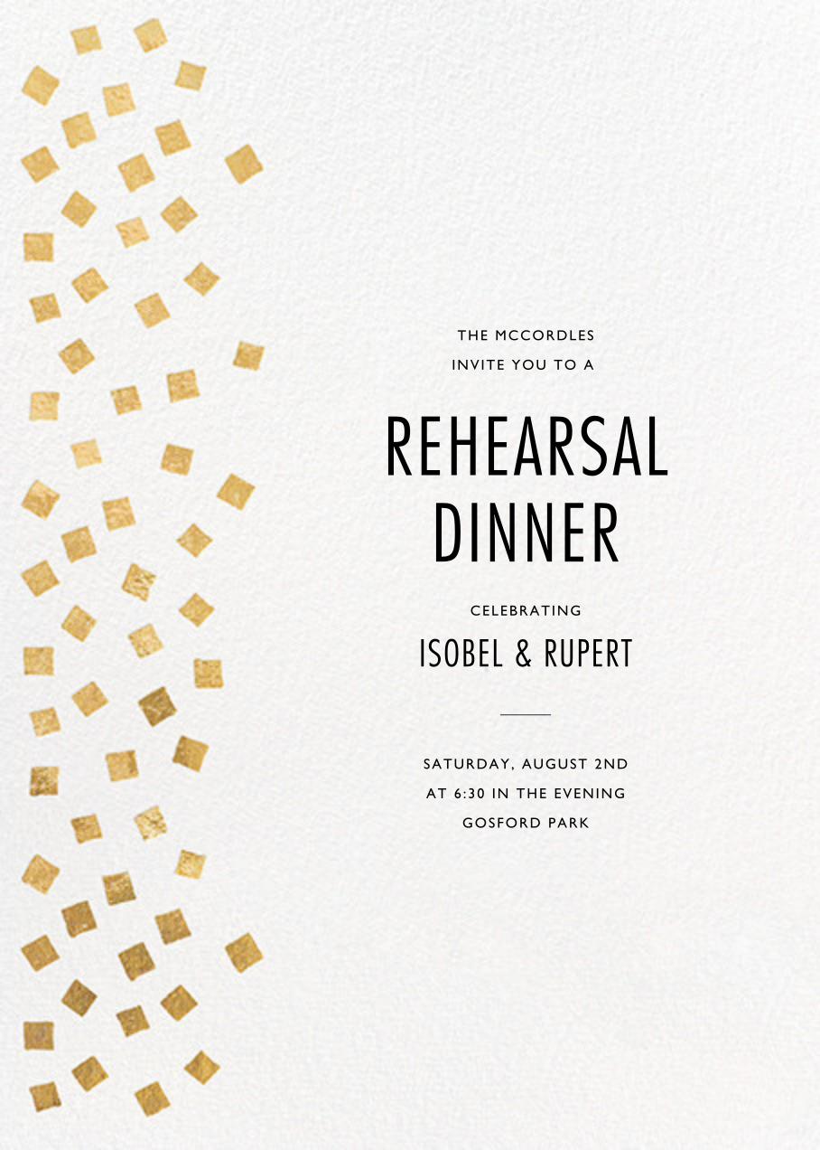 Fette - Gold/White - Kelly Wearstler - Rehearsal dinner