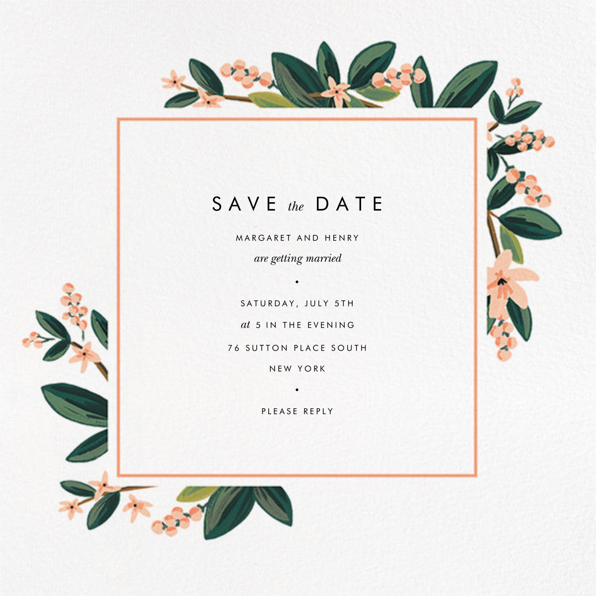 November Herbarium (Save the Date) - Rifle Paper Co. - Party save the dates