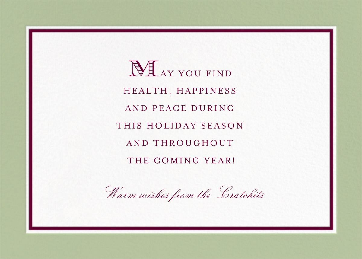 Hampstead Horizontal - Sage and Merlot - Paperless Post - null - card back