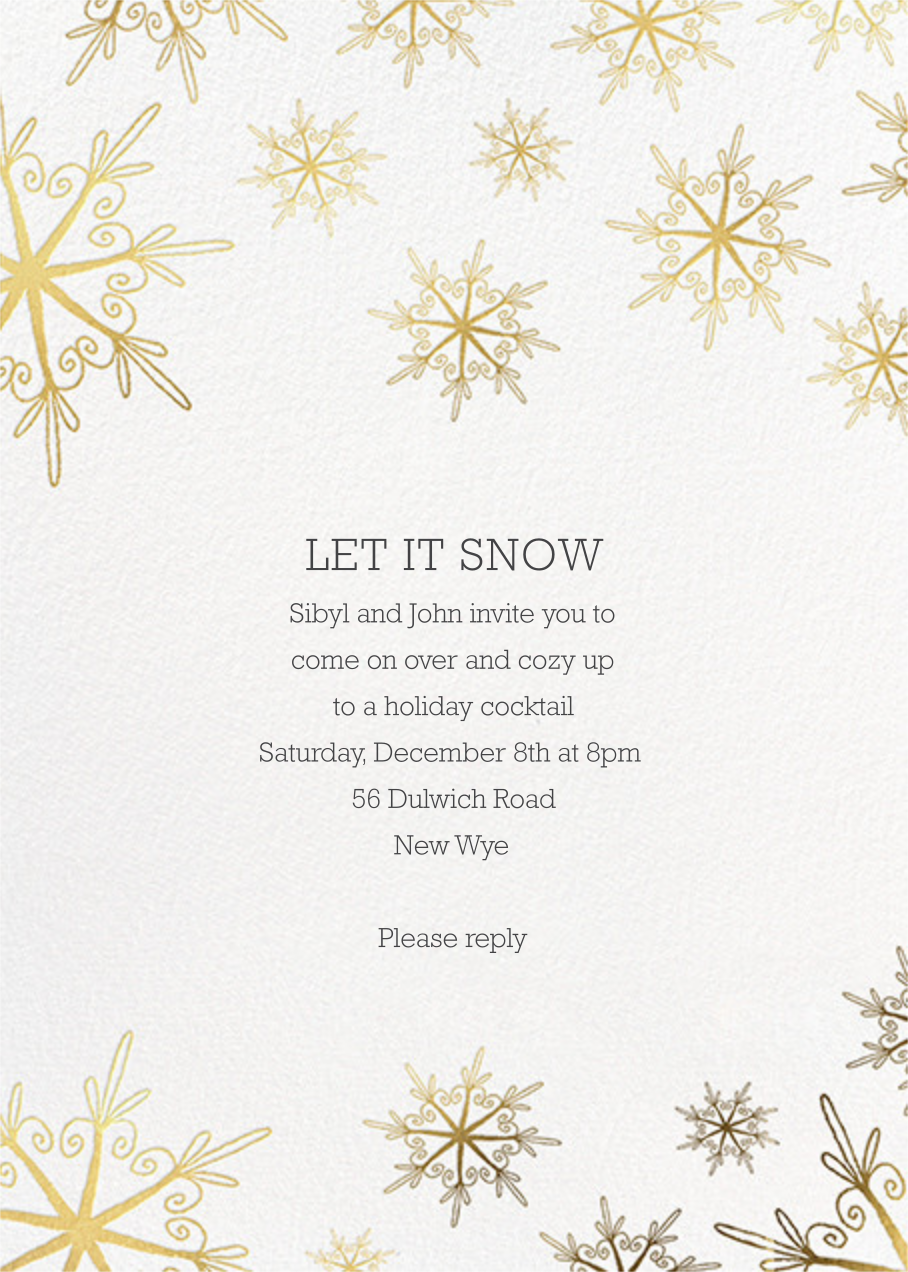 Vintage Flakes - Gold - Paperless Post - Winter parties