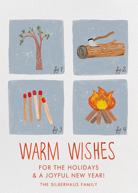 How to Build a Fire - Paperless Post - Holiday cards