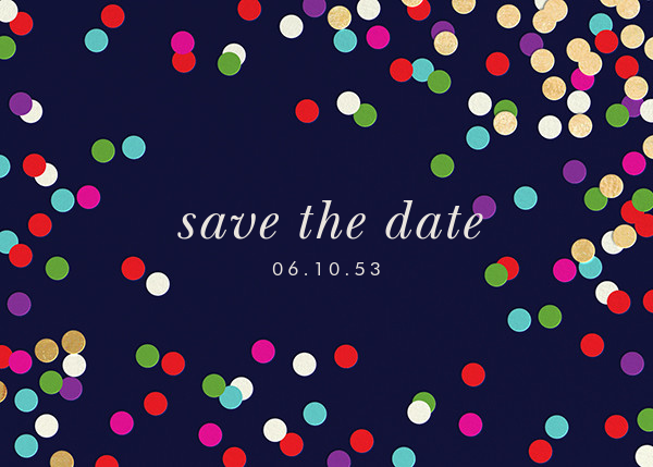 Confetti Toss - kate spade new york - Event save the dates