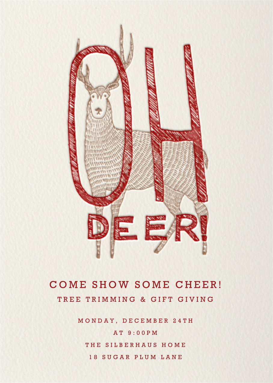 Oh Deer - Paperless Post - Winter entertaining
