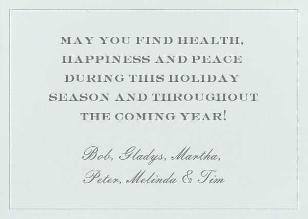 Peace on Earth - Paperless Post - Back