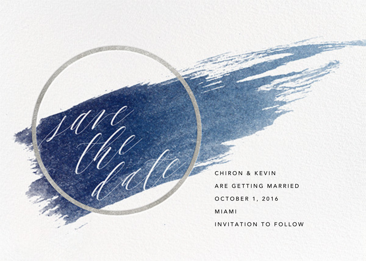 Selene - Navy/Silver - Paperless Post - Save the date