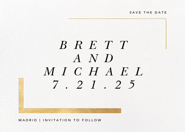 Ando (Save the Date) - Gold - Paperless Post - Save the date