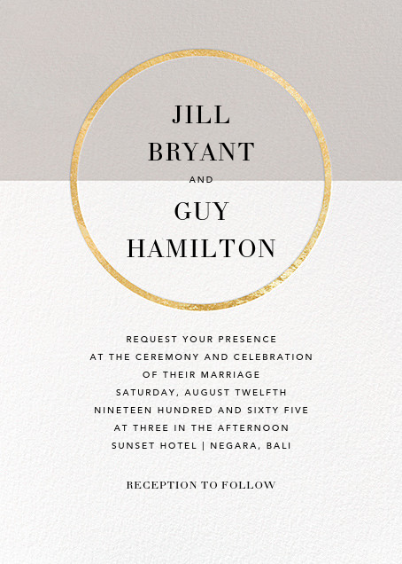 Burgoyne (Invitation) - Oyster/Gold - Paperless Post - All