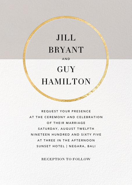 Burgoyne (Invitation) - Oyster/Gold - Paperless Post - Printable invitations