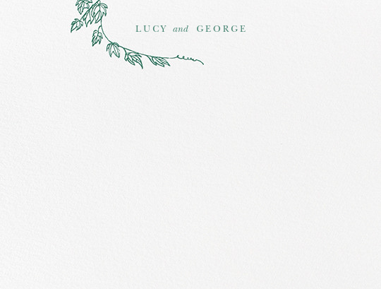 Gwendolyn I (Thank You) - Hunter Green - Paperless Post - Personalized stationery