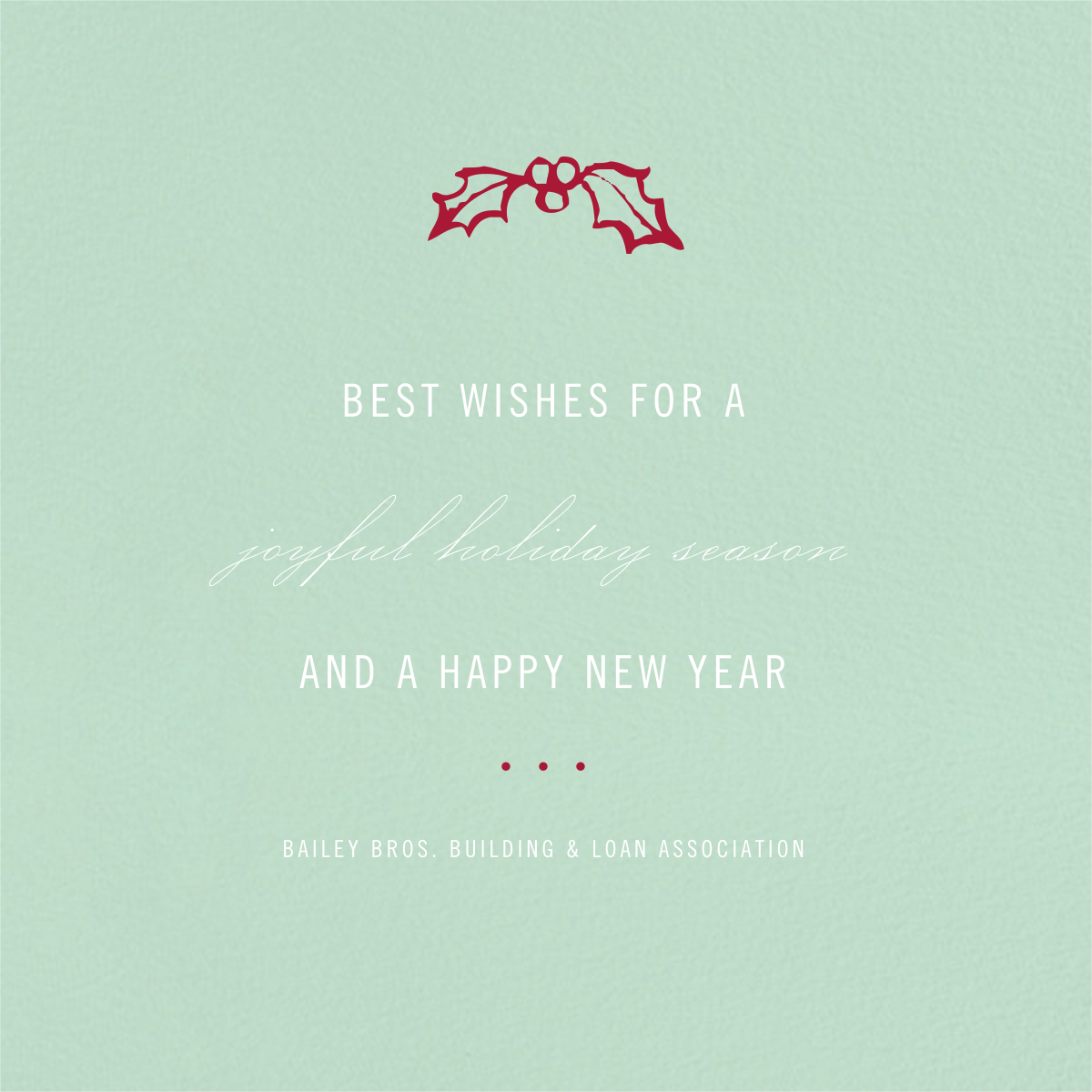 Mint - Paperless Post - Business holiday cards