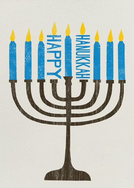 Happy Hanukkah Menorah - Paperless Post - Hanukkah