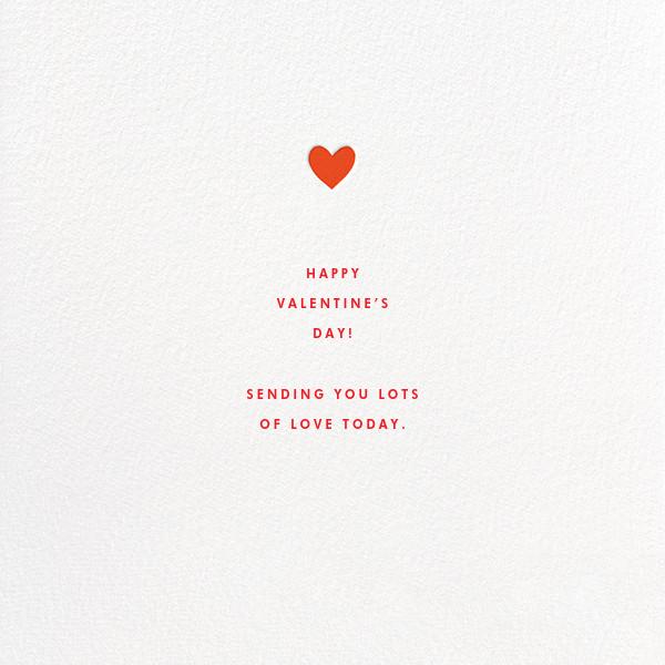 Valentine's Heart - The Indigo Bunting - Valentine's Day - card back