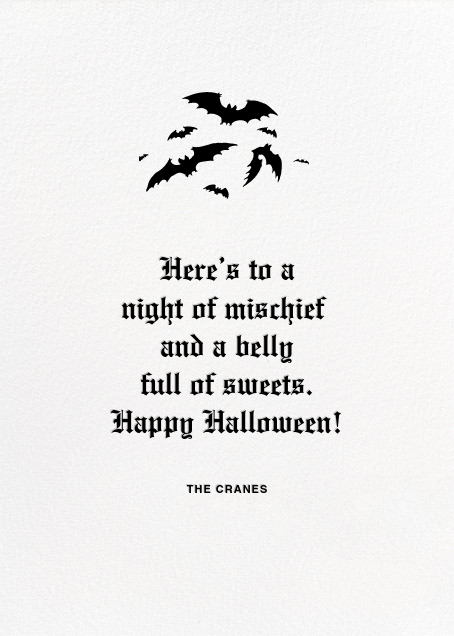 Full-Page Photo (Double-Sided) - Paperless Post - Halloween - card back