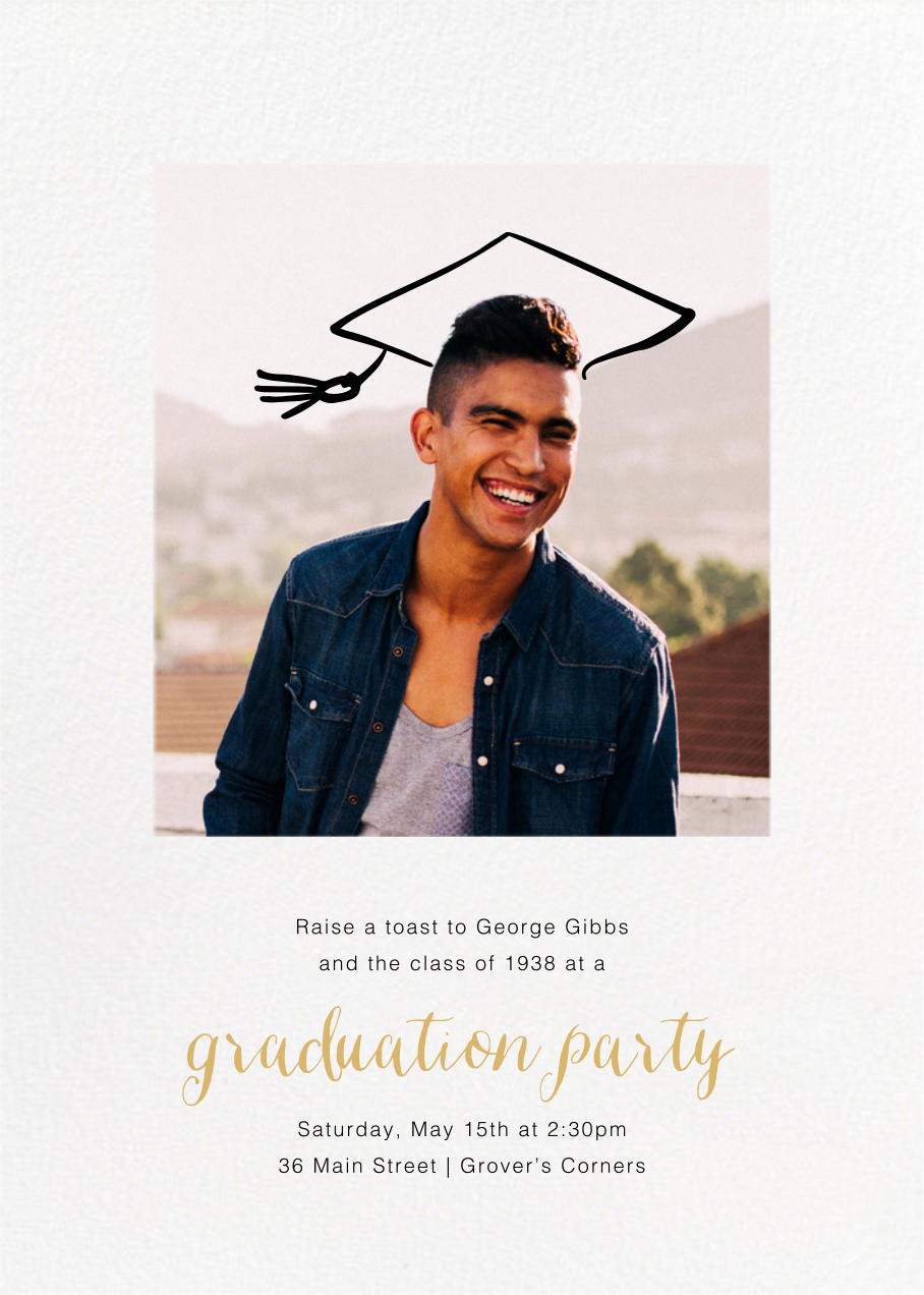 Thinking Cap - Paperless Post - Graduation party