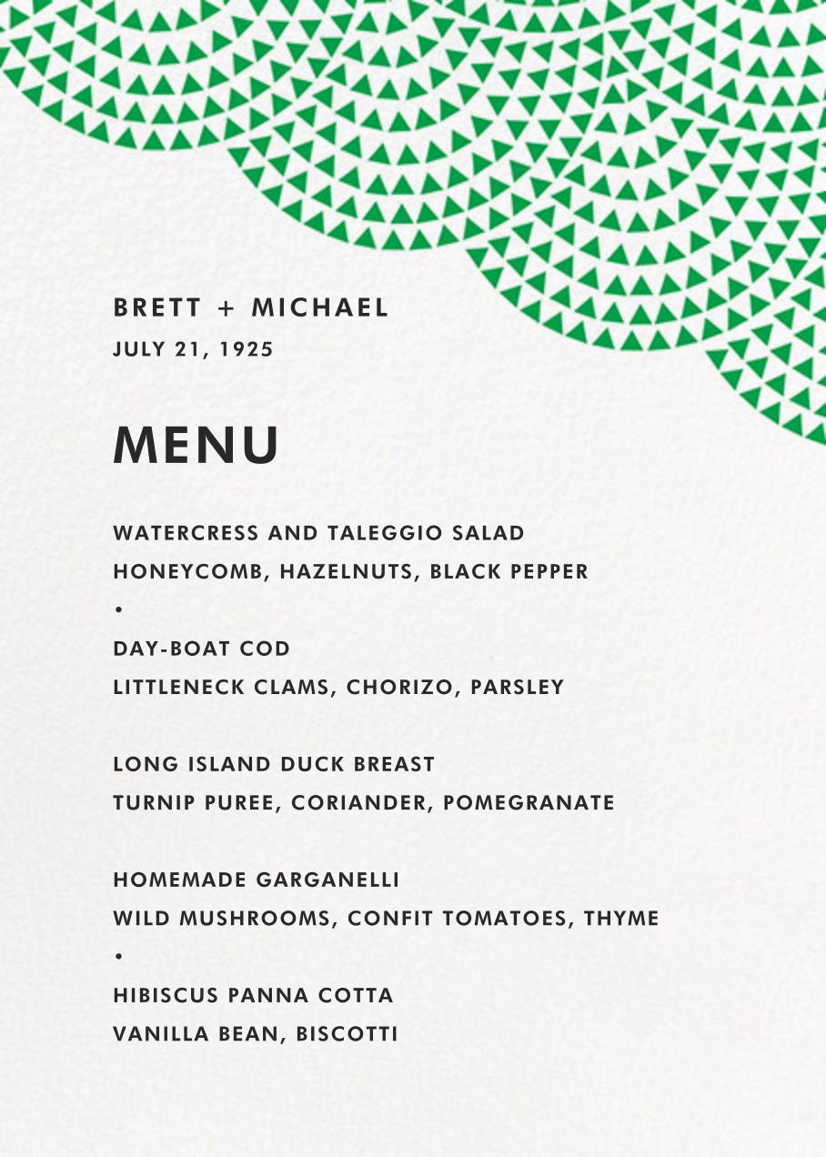 Savoy (Menu) - Emerald - Paperless Post - Menus