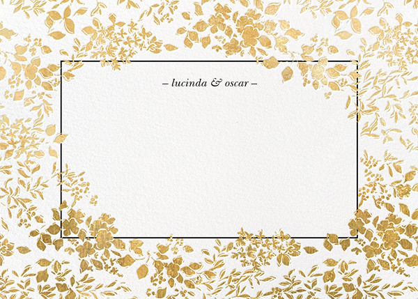 Richmond Park (Stationery) - White/Gold - Oscar de la Renta - Wedding
