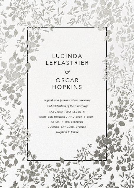 Richmond Park (Invitation) - White/Silver - Oscar de la Renta - All