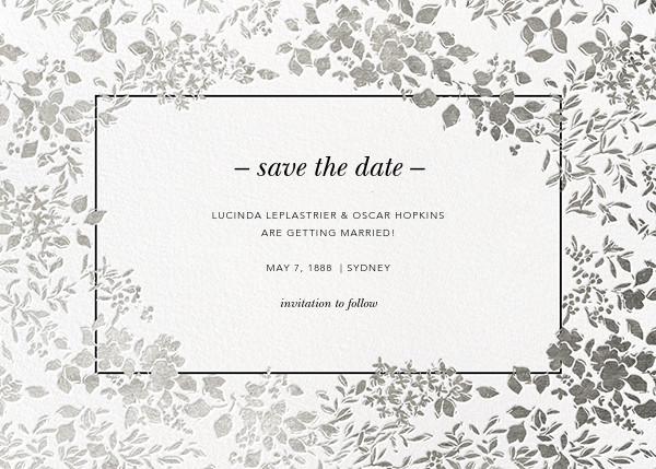 Richmond Park (Save the Date) - White/Silver - Oscar de la Renta - Party save the dates