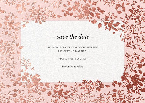 Richmond Park (Save the Date) - Pink/Rose Gold - Oscar de la Renta - Save the date