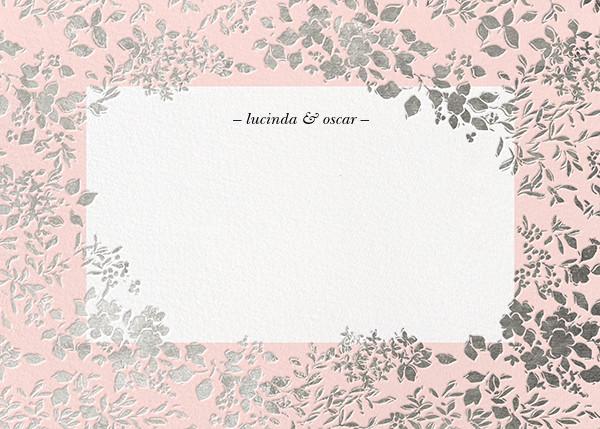 Richmond Park (Stationery) - Pink/Silver - Oscar de la Renta - Wedding