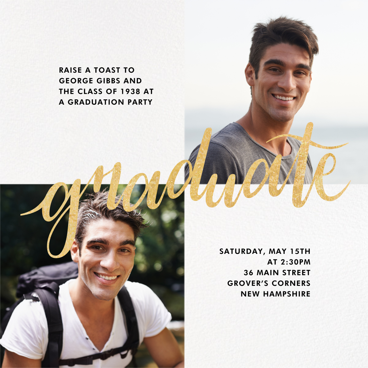 Squared Away - Paperless Post - Graduation party