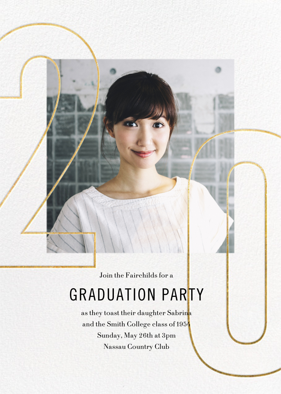 Double Digits - Paperless Post - Graduation party