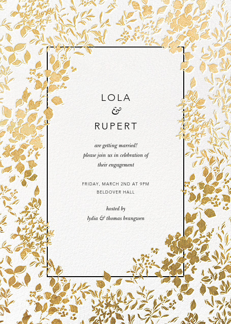 Richmond Park - White/Gold - Oscar de la Renta - Engagement party