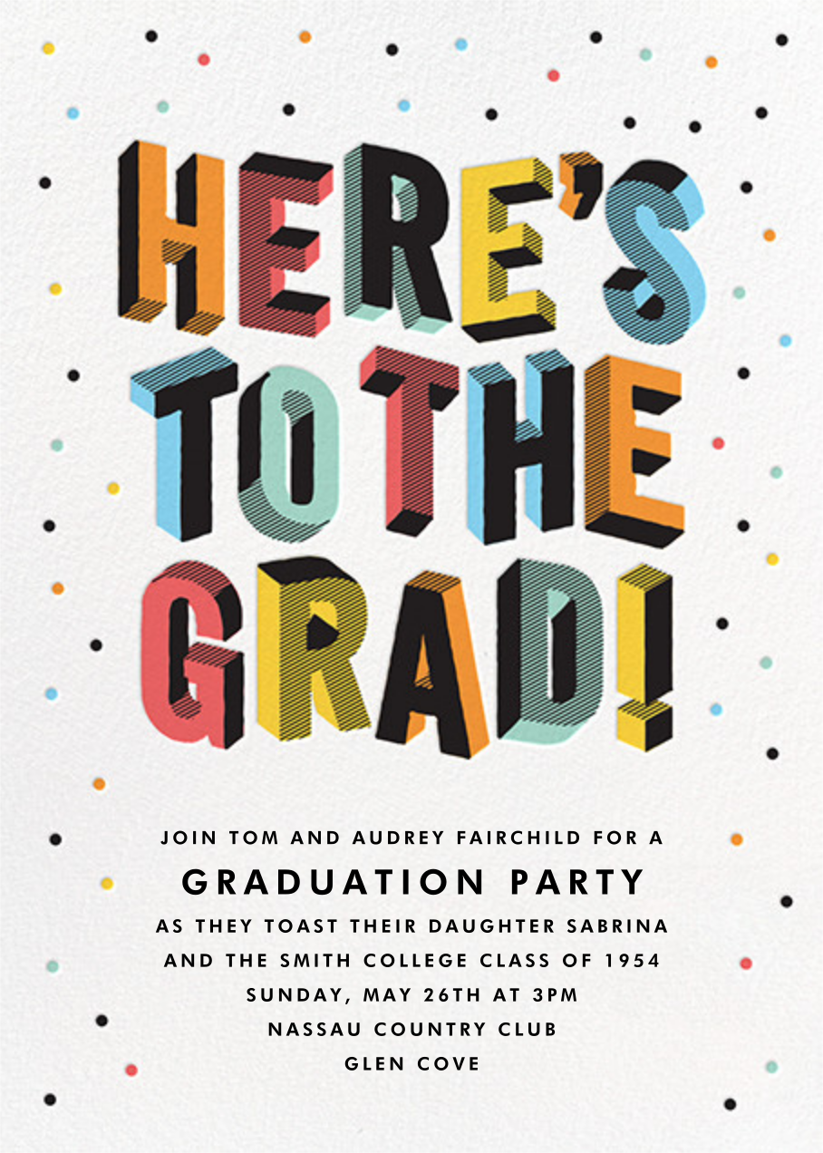 Degree in 3-D - Multi - Paperless Post - Graduation party