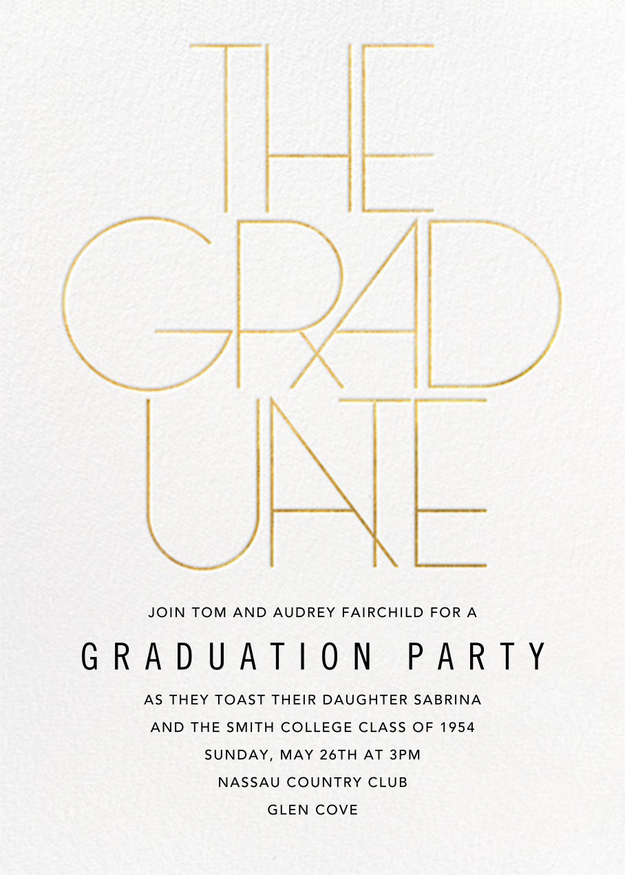 Deco Degree - Paperless Post - Graduation party