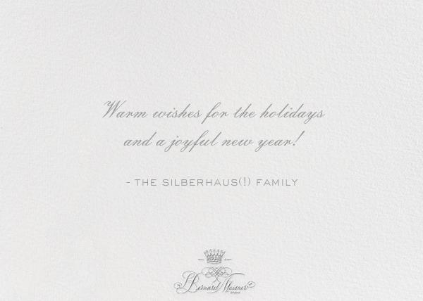 Happy New Year - Photo - Bernard Maisner - New Year - card back