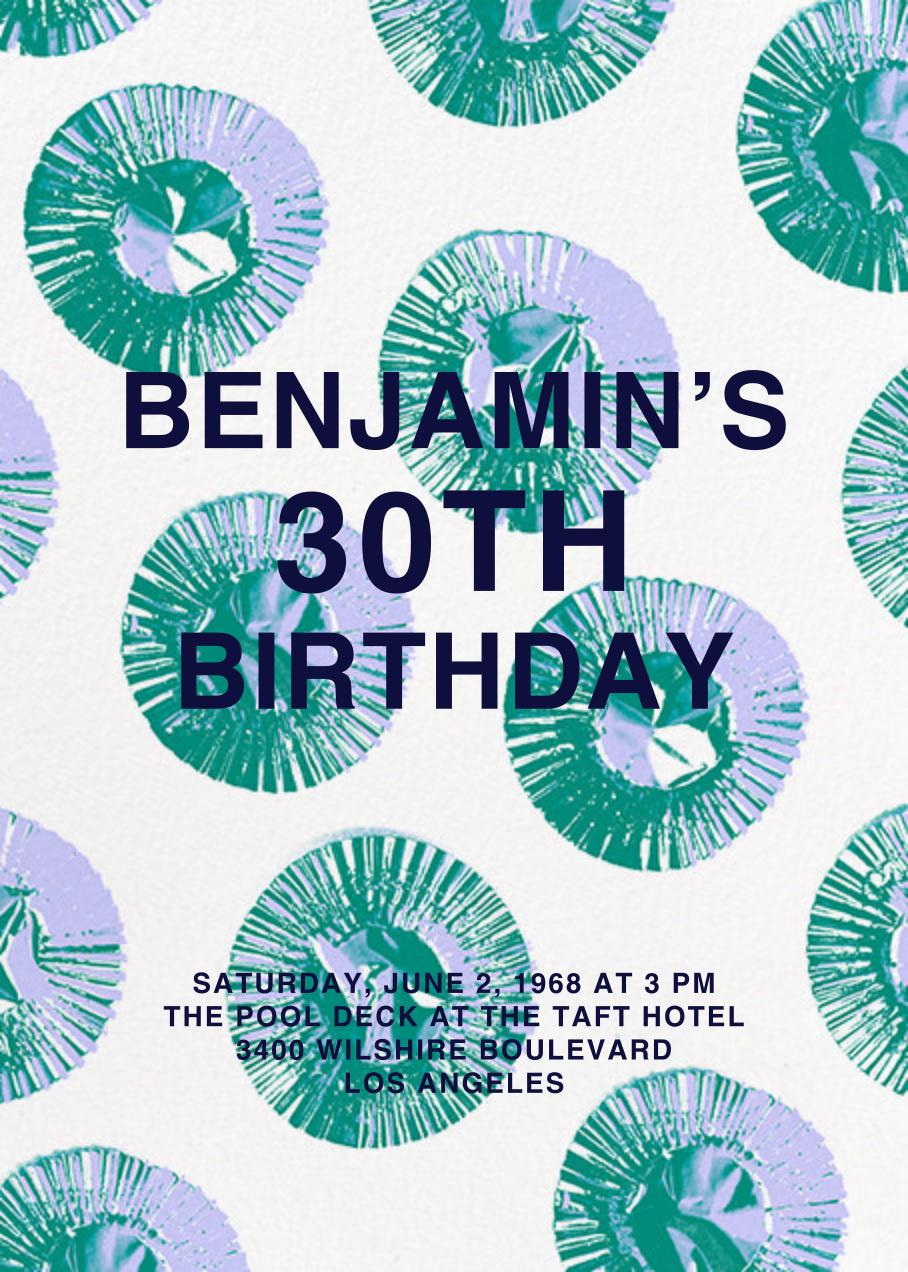 Cupcake Foils - Paperless Post - Adult birthday