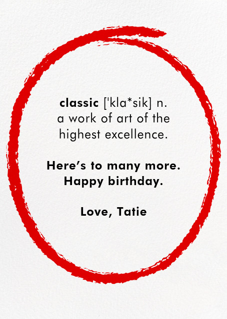 Classic List - Paperless Post - Birthday - card back