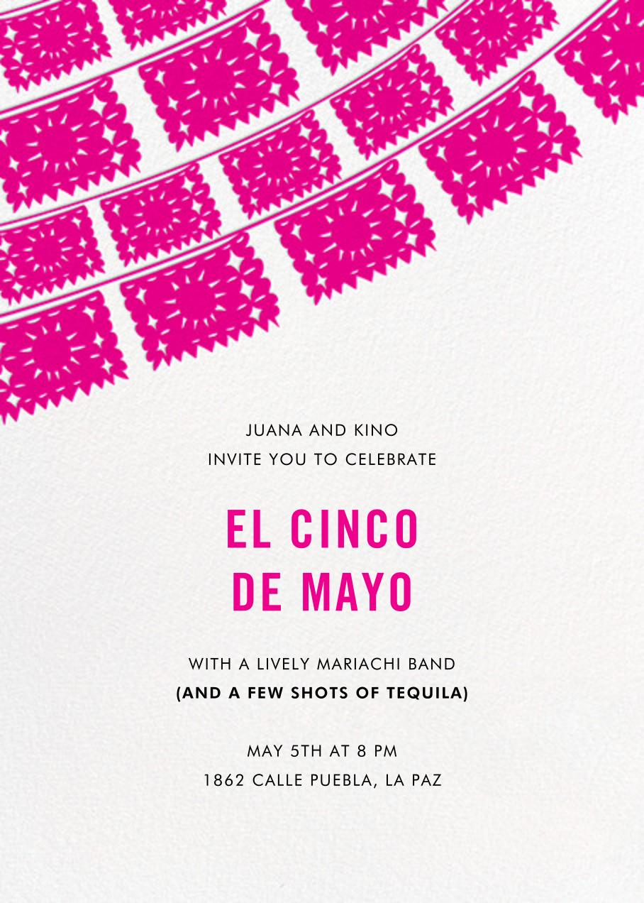 Fiesta Flags - Pink - Linda and Harriett - Cinco de Mayo
