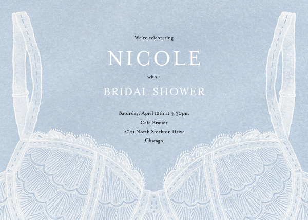 Intimate Situation - Spring Rain - Paperless Post - Bridal shower