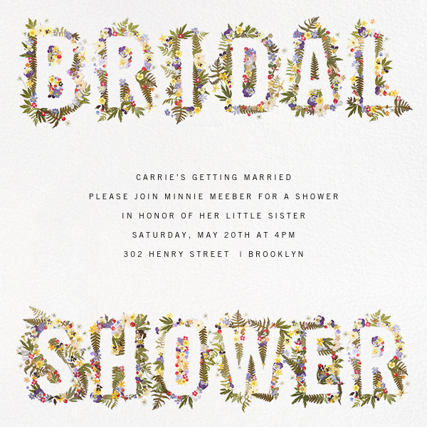 Boyceau Bridal - Paperless Post - Bridal shower