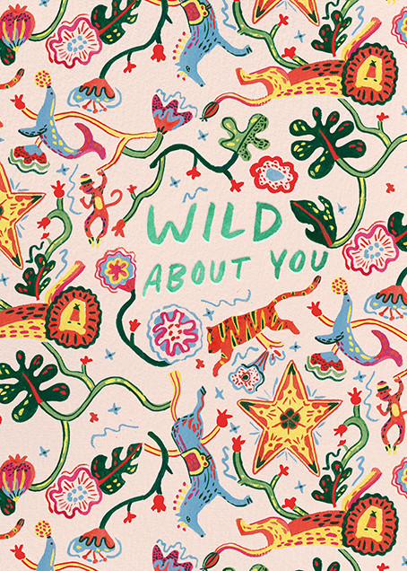 Wild Things (Danielle Kroll) - Red Cap Cards - Love and romance