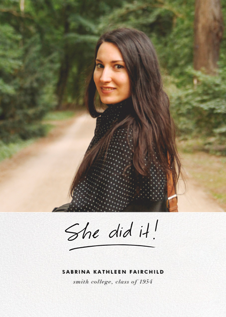 You Did It (Hers) - Linda and Harriett - Graduation
