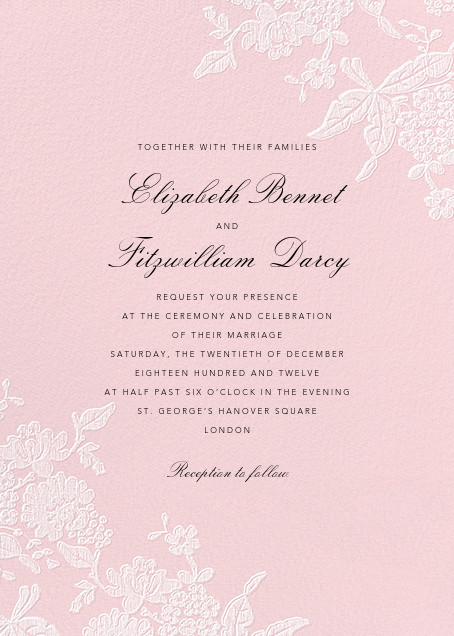 Hydrangea Lace I - Pink - Oscar de la Renta - Printable invitations