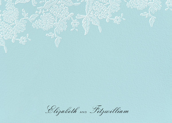 Hydrangea Lace I (Stationery) - Blue - Oscar de la Renta
