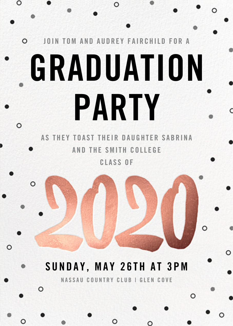 Person of the Year (Invitation) - Rose Gold - Paperless Post - Graduation party