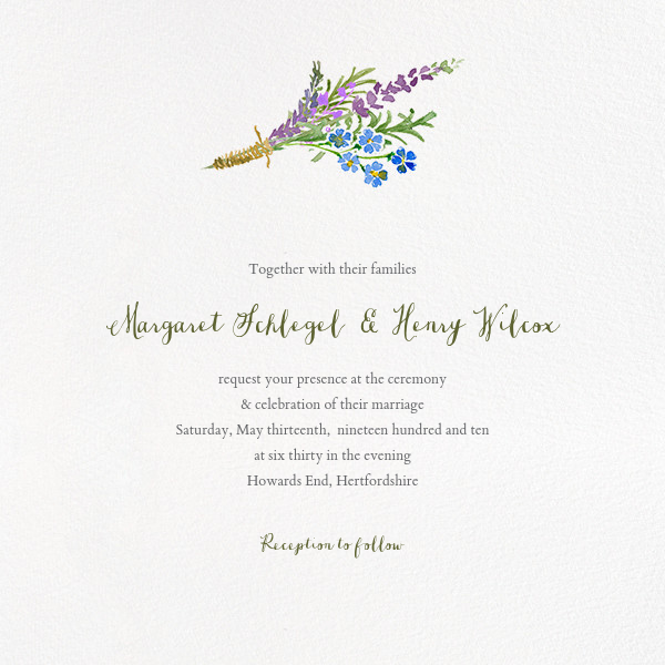 Mountain Flora (Invitation) - Lilac - Paperless Post - All