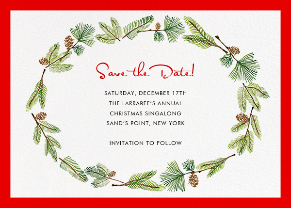 Delicate Firs (Horizontal) - Paperless Post - Save the date