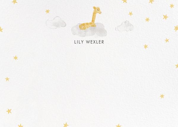 Starry Slumber (Stationery) - Giraffe - Paperless Post - Kids' stationery