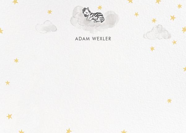 Starry Slumber (Stationery) - Zebra - Paperless Post - Kids' stationery