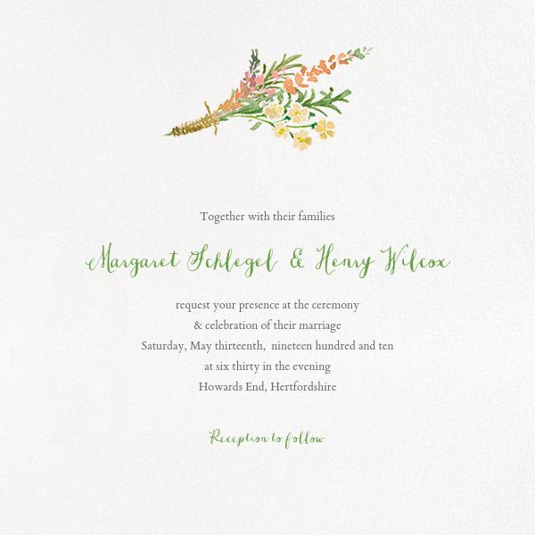 Mountain Flora (Invitation) - Tangelo - Paperless Post - All