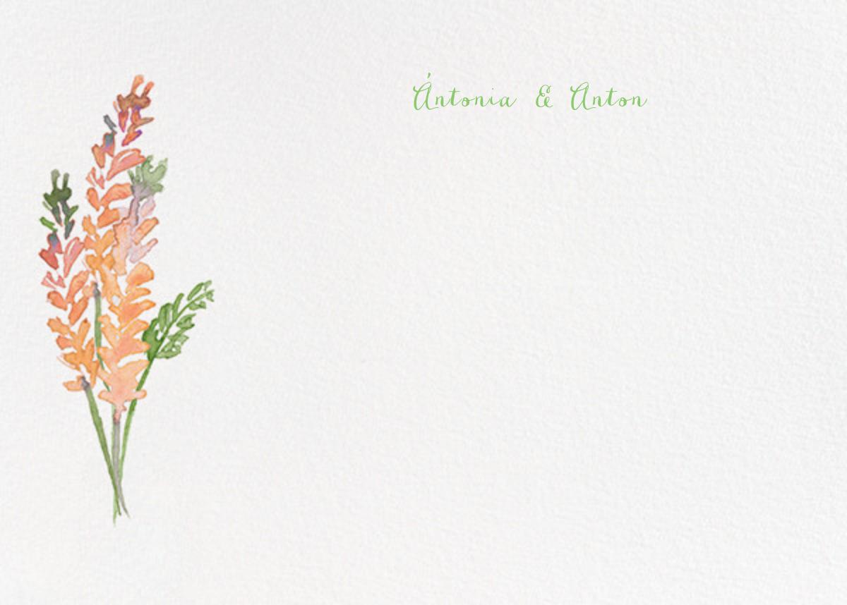 Mountain Flora (Stationery) - Tangelo - Paperless Post - Wedding