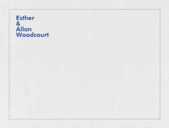 Bauhaus (Thank You) - Regent Blue and Platinum - Crane & Co.