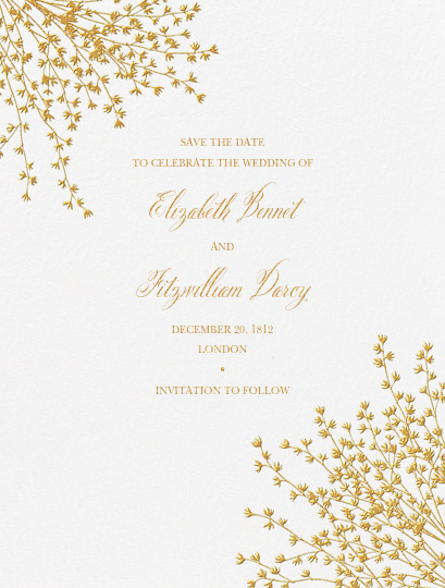 Forsythia (Save The Date) - Medium Gold - Crane & Co. - Save the date
